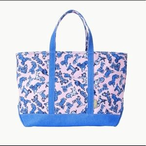 NWT Lilly Pulitzer Mercato Tote Bag Ruff Night
